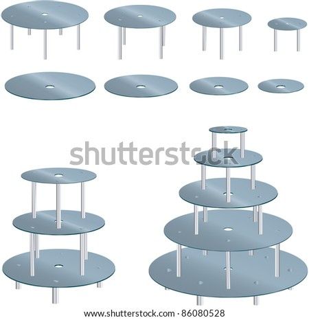 Wedding Cake Stand - stock vector