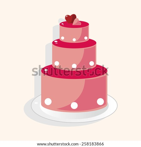 wedding cake theme elements - stock vector