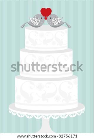 wedding cake vector/illustration - stock vector