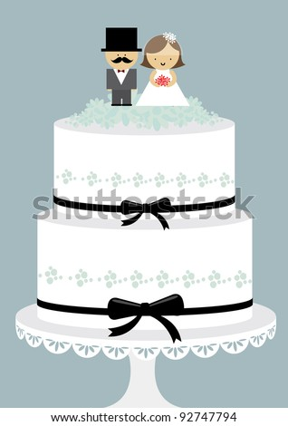cartoon picture of a wedding cake wedding cake vectorillustration stock vector 12418