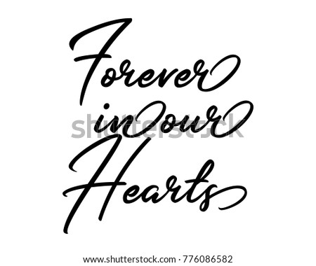 Wedding Calligraphy Word Art Text Vector In Signature Style For Forever Our Hearts