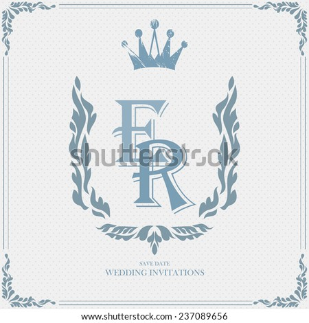Wedding card flat. cards newlyweds named - stock vector
