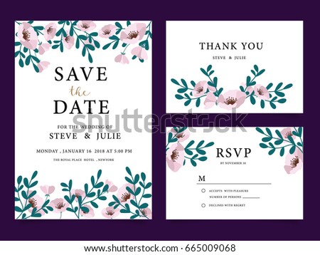 Wedding card invitation template text stock vector 665009068 wedding card invitation template with text stopboris Gallery