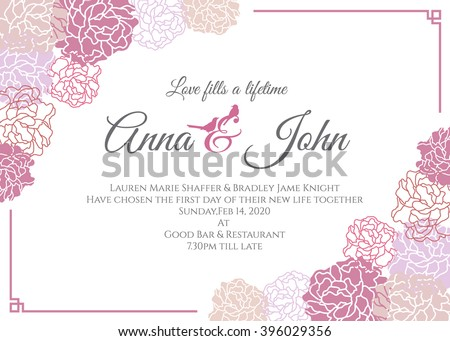 Wedding Card Design Stock Images, Royalty-Free Images & Vectors