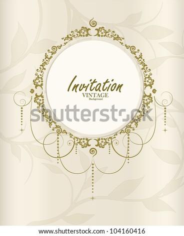 Wedding card. Vector illustration. - stock vector