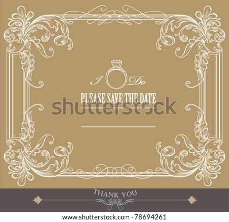 wedding cardwe - stock vector