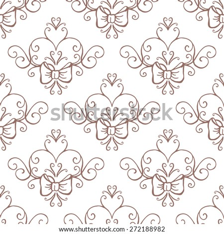 Wedding collection. Seamless background. Vector illustration - stock vector