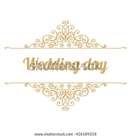 Wedding day has handwritten inscription gold stock vector 426589258 wedding day has a handwritten inscription in gold abstract elements for greeting cards invitations junglespirit Gallery