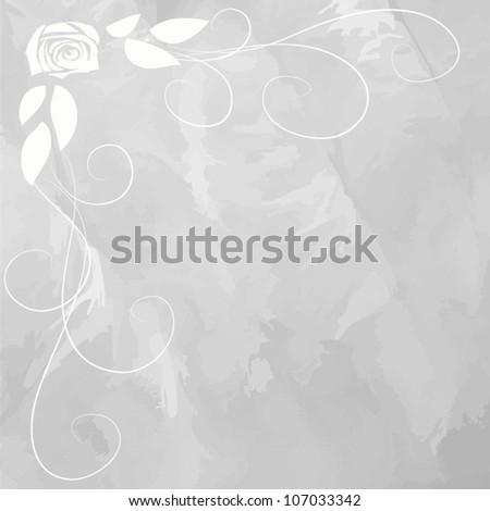 Wedding decoration vector card. Invitation - stock vector