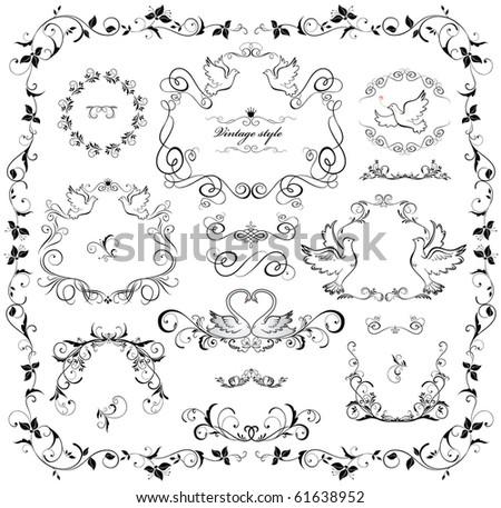 Wedding design - stock vector