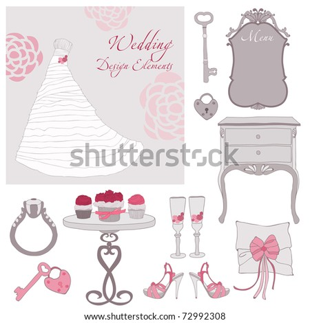 Wedding design elements in vector