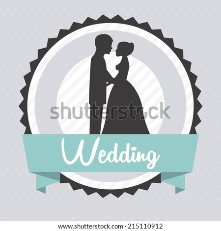 wedding design over gray background vector illustration