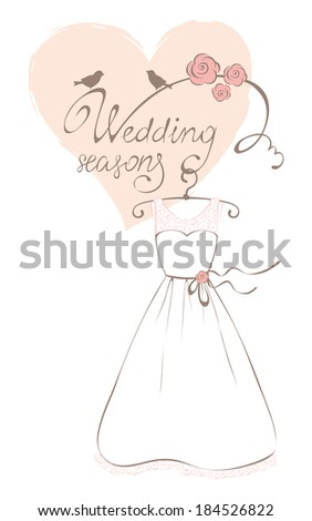 Wedding dress - Summer Collection - stock vector