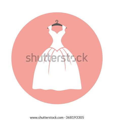wedding dressvector flat icon button modern stock vector