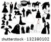 Wedding figures - stock vector