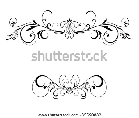 Wedding floral frame - stock vector