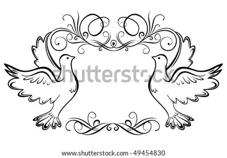 Wedding frame - stock vector