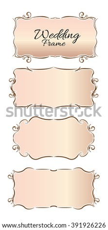 wedding frame set.