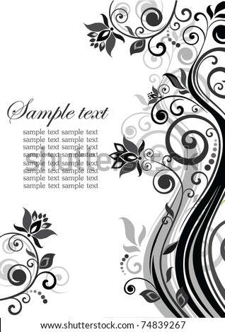 Wedding invitation - stock vector