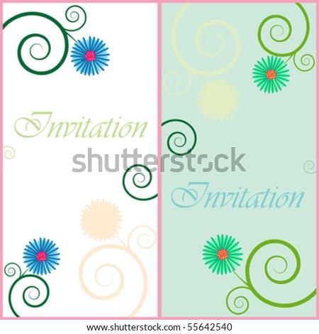 wedding invitation, abstract vector art illustration - stock vector