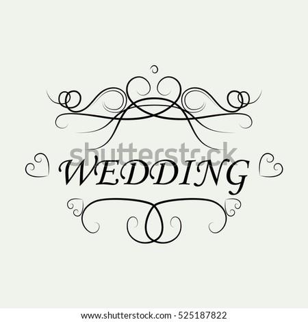 Wedding invitation card ornamental decorative elementsvector stock wedding invitation card ornamental decorative elementsctor illustrationntage and filigree decoration junglespirit Choice Image