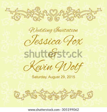 Wedding invitation card template floral design stock vector hd wedding invitation card template with floral design elements on vintage background stopboris Gallery