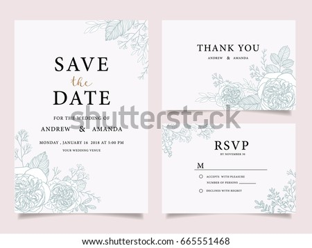 Wedding invitation card template text stock vector 665551468 wedding invitation card template with text stopboris Choice Image