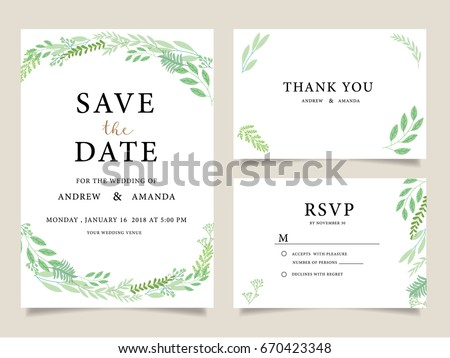 Wedding invitation card template text stock vector 670423348 wedding invitation card template with text stopboris Image collections