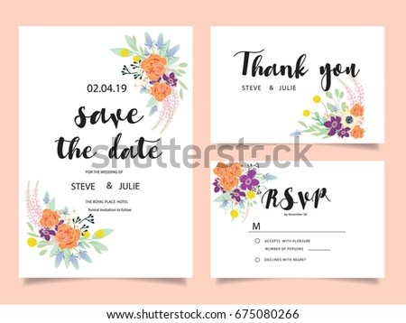 Wedding invitation card template text stock vector 675080431 wedding invitation card template with text stopboris Gallery
