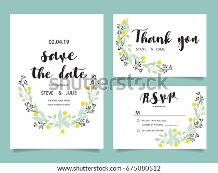 Wedding invitation card template text stock vector hd royalty free wedding invitation card template with text stopboris Gallery