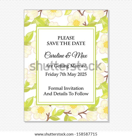 Wedding invitation card vector file contains stock vector 158587715 wedding invitation card vector file contains few layers for easy using stopboris Gallery