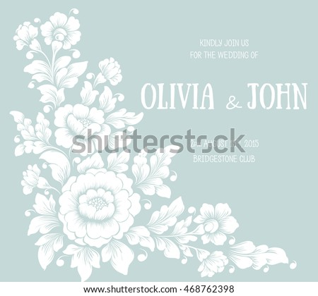 Wedding invitation card vector invitation card stock vector hd wedding invitation card vector invitation card with elegant text and floral ornament hand drawn stopboris Choice Image