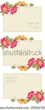 Wedding invitation card Wedding set vector eps10 - stock vector