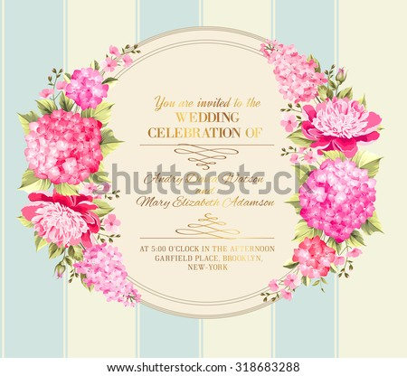 Wedding invitation card pink flowers vintage stock vector 318683288 wedding invitation card pink flowers vintage stock vector 318683288 shutterstock mightylinksfo Image collections