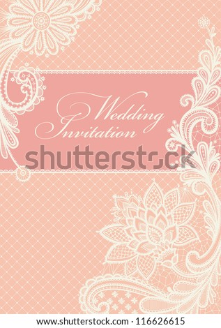 Lace Background With A Place For Text Vintage Vector Design