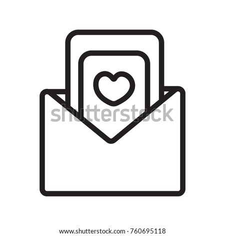 Wedding invitation letter icon outline stock vector 760695118 wedding invitation letter icon outline stopboris Gallery