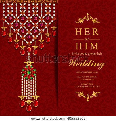 Wedding invitation card abstract background islam stock vector wedding invitation or card with abstract background islam arabic indian dubai stopboris Images