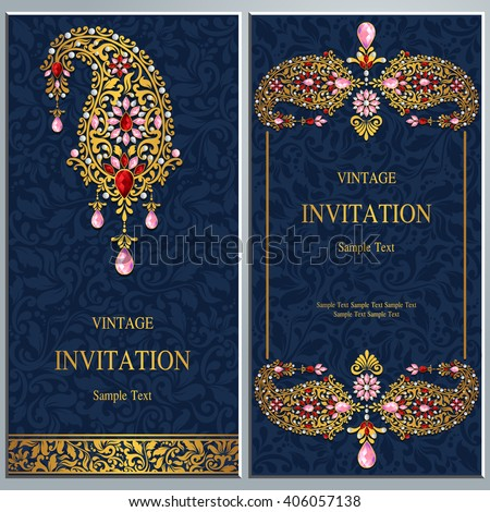 Wedding invitation card abstract background islam stock vector wedding invitation or card with abstract background islam arabic indian dubai stopboris Image collections