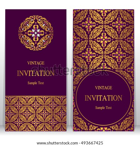 Wedding invitation card abstract background islam stock vector 2018 wedding invitation or card with abstract background islam arabic indian dubai stopboris Choice Image