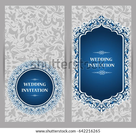 Wedding invitation card abstract background islam stock vector wedding invitation or card with abstract background islam arabic indian dubai stopboris Choice Image