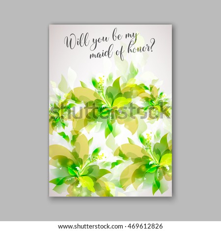 Wedding invitation or card with beautiful roses