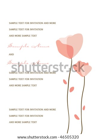 Wedding Invitation Panel - stock vector
