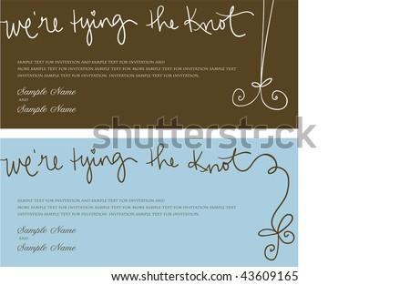 Wedding invitation panel were tying knot stock vector 43609165 wedding invitation panel were tying the knot stopboris Choice Image