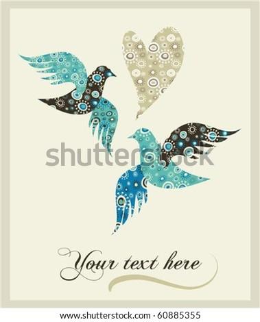 Wedding invitation template - stock vector