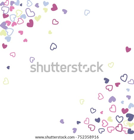 wedding invitation template border vector flying hearts border confetti with place for text