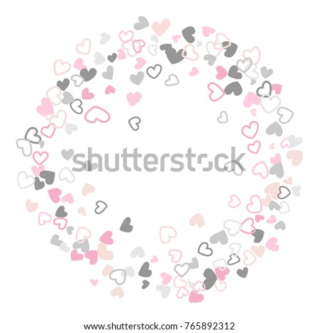 Pastel wedding invitation template border vector stock vector wedding invitation template border vector flying hearts border confetti with place for text valentine stopboris Image collections