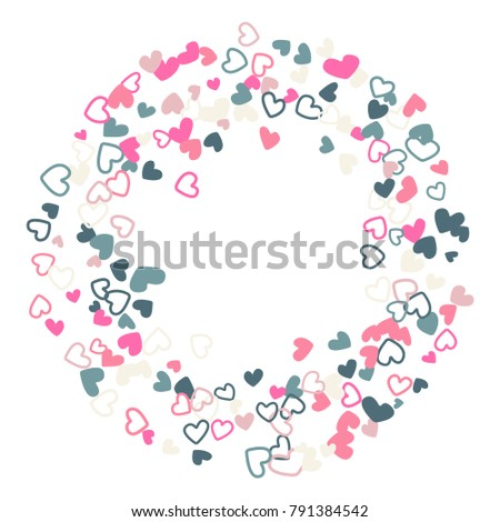 Wedding invitation template border vector flying stock photo photo wedding invitation template border vector flying hearts border confetti with place for text valentine stopboris Image collections