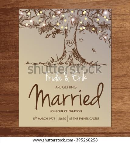 wedding invitation template mock design layout stock vector, Invitation templates