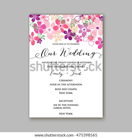 Wedding invitation template card tropical floral stock vector wedding invitation template or card with tropical floral background greeting postcard in grunge retro vector elegance stopboris Choice Image