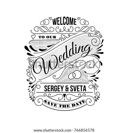 Wedding Invitation Thank You Card Save Stock Vector 766856578